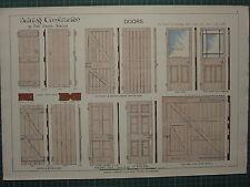 1900 porte di ARCHITECTURAL stampa ~ Pannello Costruzione Edificio con CONTROVENTO