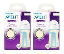 Philips Avent Natural Protects & Insulates Sleeve for 8 Oz Glass Bottle (2 Pack)