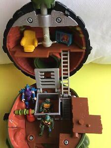 Vintage Teenage Mutant Hero Turtles Mini Mutants LEO Leonardo Micro playset 1994
