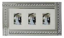 Glitz Mirrored Glass Crystals silver Three Photo Frame/ Home 6X4 OR 7X5 OR 8X6