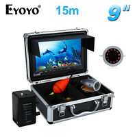 "EYOYO 15m 9"" LCD 1000TVL Underwater Fishing Camera IR Fish Finder Waterproof Sea"