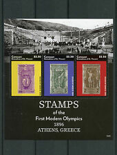 Canouan Grenadines St Vincent 2015 MNH Stamps First Modern Olympics Athens 3v MS