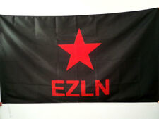 CHIAPAS MEXICO EZLN FLAG 3' x 5' for a pole - ZAPATISTA ARMY OF NATIONAL LIBERAT