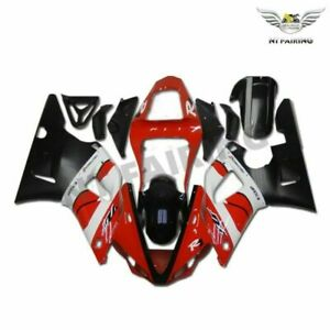 UK Red Black Injection Body Kit Fairing Fit for Yamaha YZF R1 2000-2001 o001