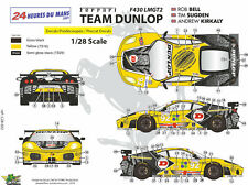 "[FFSMC Productions] Decals 1/28 Ferrari F-430 LMGT2 ""Team Dunlop"" (LM 09) Mini Z"