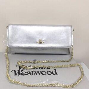 VIVIENNE WESTWOOD Long Wallet / Pochette Purse / Clutch w/ Shoulder Chain