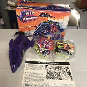 Air Raiders Tyrants Dragonwind Vehicle MIB Hasbro 1987 4 Mini Figure Open Box