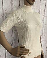 Designer Jumper J Lindeberg UK10  Myrtle Silky Knit  S/S Off White RRP £110