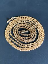 """14K GOLD 28"""" ROPE CHAIN 8.7GR SOLID Very Long and Thick VINTAGE NECKLACE!!"""