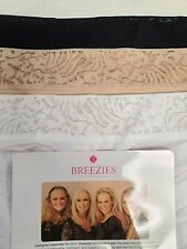A302046 Breezies Set of 3 Microfiber Full Brief Panties with Lace Size 1X