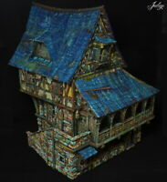 Tabletop World Merchant's House - well painted 28mm wargaming / railway scenary