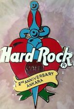 Hard Rock Cafe ANKARA TURKEY (Closed) 2000 2nd Anniversary PIN Dagger Heart #295