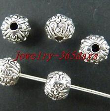 100pcs Tibetan Silver Bail Style Spacer Beads 6.5x5.5mm 9386