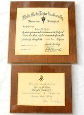 Kappa Alpha Theta DePauw University Sorority 1950 Wooden Vintage Plaque Beta Tau