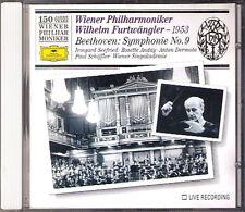 Wilhelm FURTWÄNGLER: BEETHOVEN Symphony 9 SEEFRIED CD Wiener Philharmoniker 150