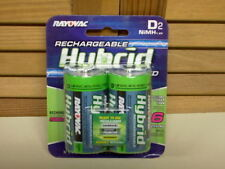NEW! Rayovac HYBRID Low-Discharge NiMH D Batteries, 1.2V 3000mAh - sealed 2-pack