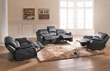 Voll-Leder TV-Sofa Schlafsofa Relaxsessel Fernsehsessel 5129-3+2+1-S