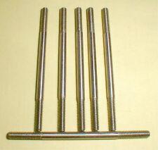 "(6) Cox 2 1/2"" Steel Axles 1/8"" Precision 5:40 thread 1960's Slot Car Nos"