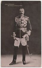 POSTCARD  MILITARY  Kitchener Secretary of State for War. Message in his hand?