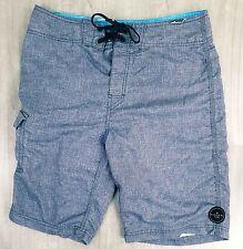Rip curl men's casual vintage board shorts, size 30, Grey