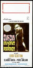 SVEZIA INFERNO E PARADISO (1 TIPO) LOCANDINA CINEMA FILM SYMEONI PLAYBILL POSTER