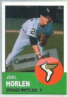 JOEL HORLEN CHICAGO WHITE SOX 1963 STYLE CUSTOM MADE BASEBALL CARD BLANK BACK