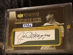 2006 Upper Deck Exquisite Cuts Joe DiMaggio Auto Autograph #25/25! YANKEES!!