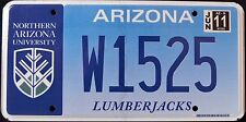 "ARIZONA "" NORTHERN AZ UNIVERSITY NAU LUMBERJACKS "" AZ Specialty License Plate"