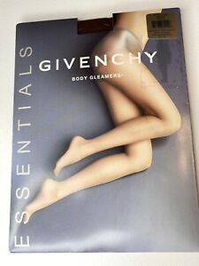 GIVENCHY ESSENTIALS BODY GLEAMERS WALNUT 01049 PANTYHOSE NYLONS STOCKINGS SIZE A