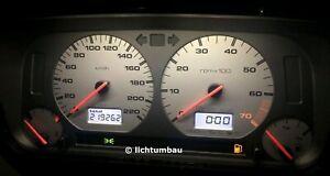 VW Golf 3 GTI Tacho MFA silber edition Tankwarnleuchte Blau Rot Weiß LED 1.8 2.0