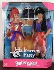 Barbie & Ken Dolls Halloween Party Gift Set #19874 Nib Nrfb Mattel 1998