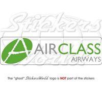 """AIRCLASS Airways Airlines, Fluggesellschaft Vinyl Sticker, Aufkleber 200mm (8"""")"""