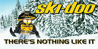 Ski Doo Banner Mancave Garage Vinyl Snowmobile Racing