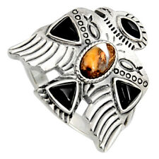 Egyptian God Wings Spiny Oyster Arizona Turquoise 925 Silver Ring Size 9 R5556