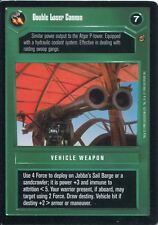 Star Wars CCG Jabbas Palace Card Double Laser Cannon