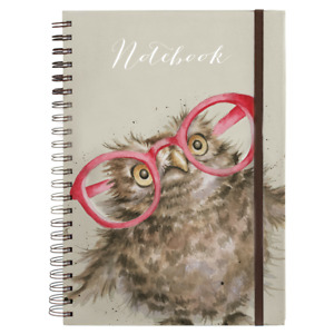 Wrendale Designs Large A4 Notebook Spectacular - Owl