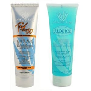 Aloe Up Spf 50 Pro Sports Sunscreen Water Resistant With After Sun Burn Relief