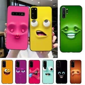 3D Funny Face Soft Phone Case For Samsung S20 S10 S8 S9 Plus S7 S6 S5 Note10