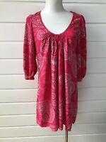 WITCHERY Pink Paisley Dress - Small