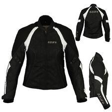 Azure 2284 BW Women Motorbike Motorcycle Waterproof Cordura Jacket Size M