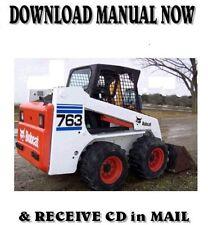 Bobcat 763 High Flow Skid Steer Loader Factory Repair Shop Service Manual Cd