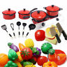 Children Kids Kitchen Utensils Pots Pans Play Toys Cooking Food Dishes Cookware