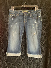 Women's BKE Denim Madison Stretch size 30 distressed w/ holes really cool shorts