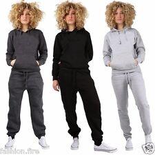 Ladies Womens Fleece Plain Pullover Hoodies Bottom Ladies Plus Size Tracksuit