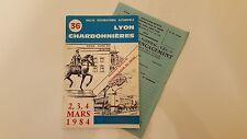Règlement + Bulletin d'engagement Rallye International Lyon Charbonnières 1984