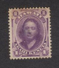 1886 Hawaii 1 Cent Akahi Keneta Stamp, MH