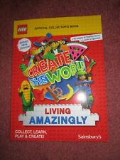 LEGO SAINSBURY'S CREATE THE WORLD OFFICAL COLLECTOR'S ALBUM - NEW