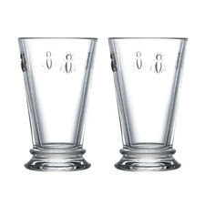 La Rochere Set of 2 Bee Long Drink Glasses, 31cl Water Drinking Cocktails Drinks