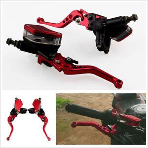 "Dual Hydraulic Brake Master Cylinder & Clutch Adjustable Levers 7/8"" 22mm"