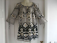 uk size 12 womens kaftan top twiggy the collection beach holiday Summer